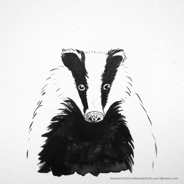 #inktober badger dachs