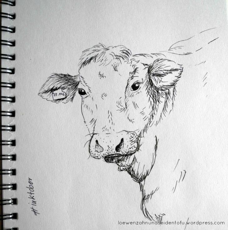 #inktober cow fineliner