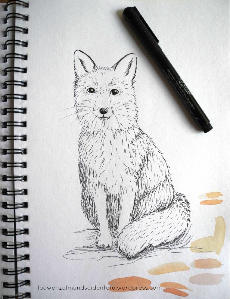 #inktober fox fineliner