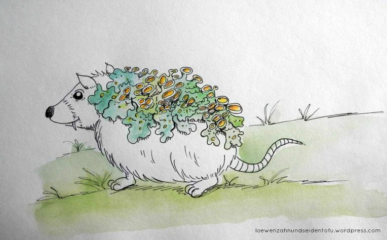 #inktober rat and lichen fineliner