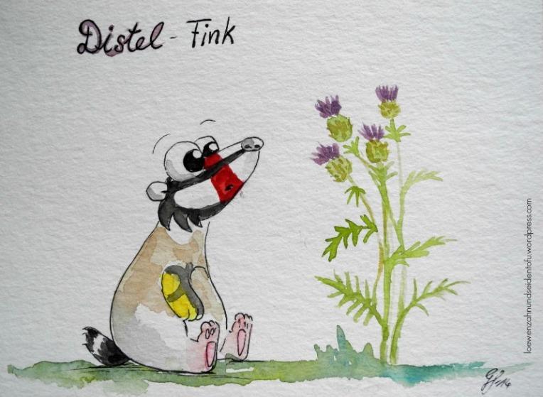A badgers dream, Dachsträume: Distelfink