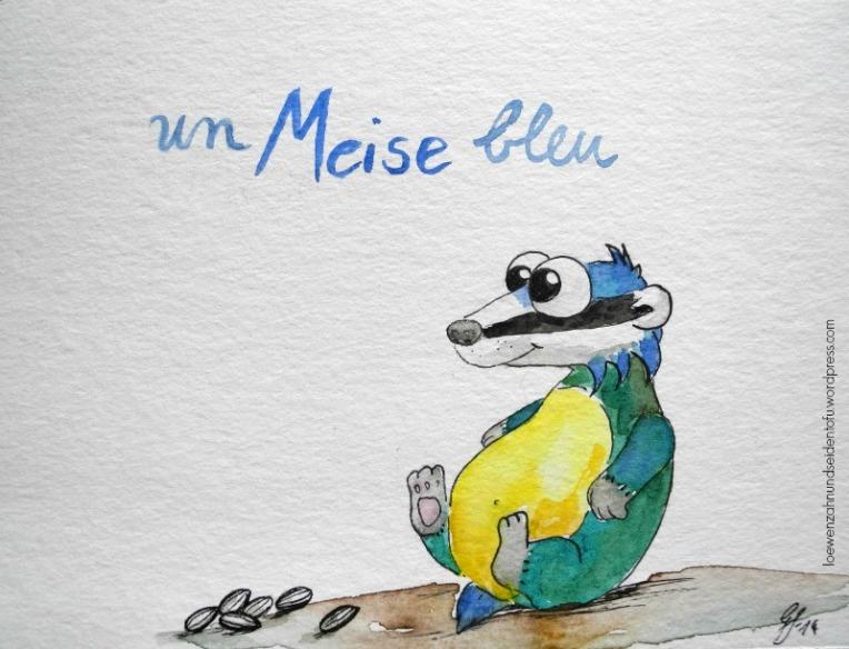 A badgers dream, Dachsträume: Blaumeise