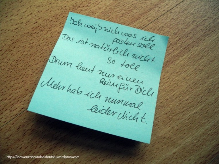Post it Gedicht