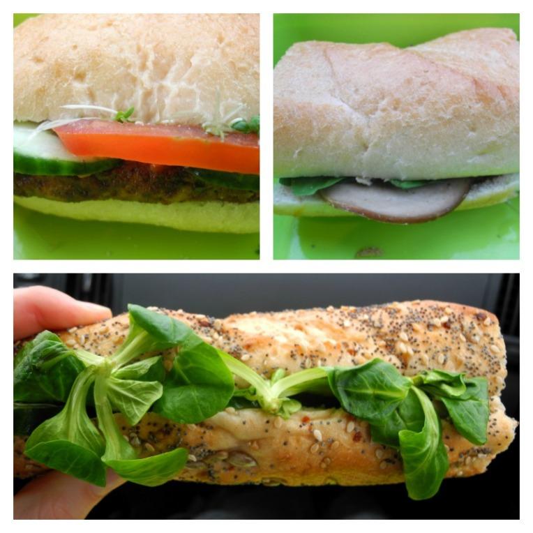 vegan auf Reisen, Sandwiches