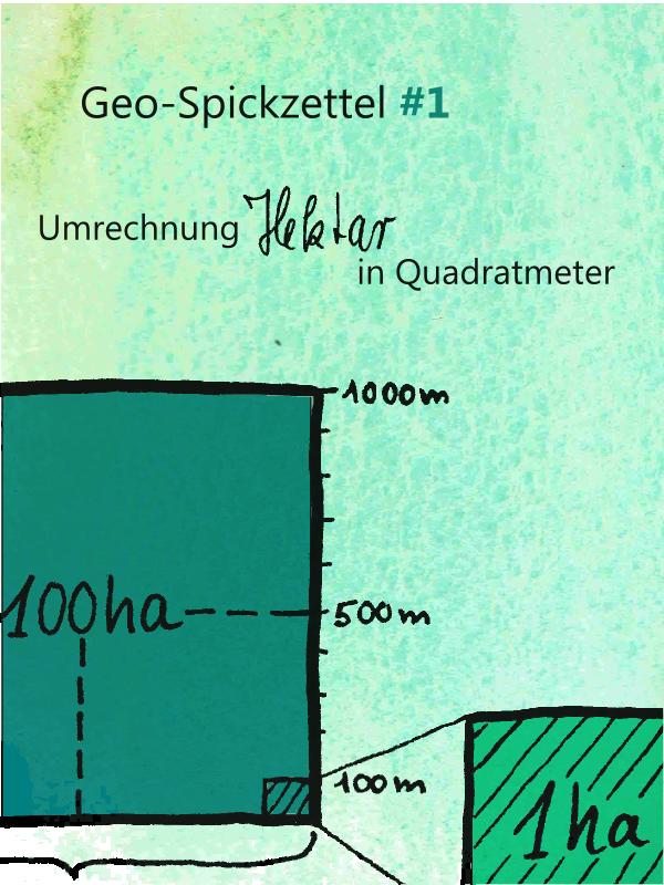 Geo-Spickzettel #1 Hektar - Löwenzahn und Seidentofu