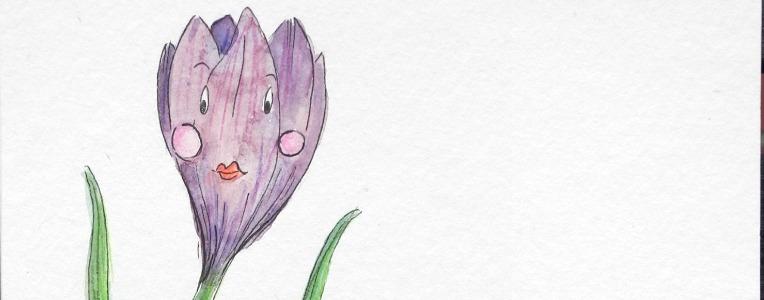 Krokuss Illustration Aquarell - watercolor