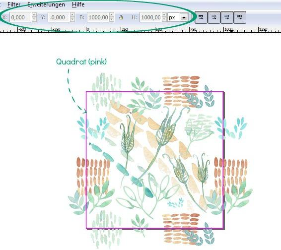 Inkscape Tutorial - Muster erstellen aus handgemalten Aquarellmotiven