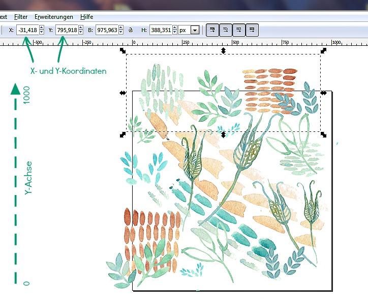 Inkscape Tutorial X-und Y-Koordinaten