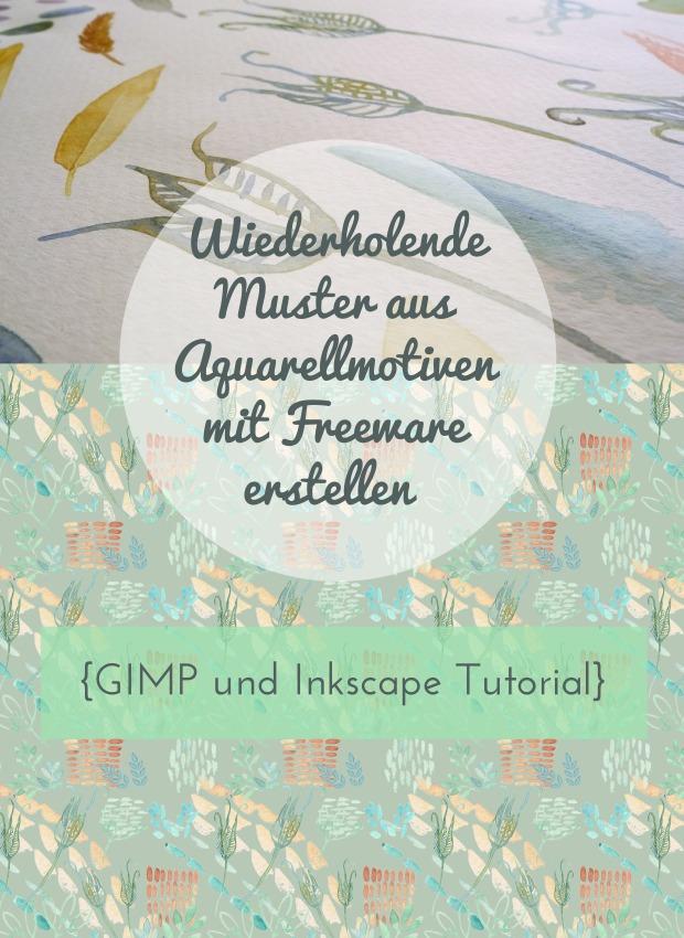 Wiederholende Muster aus Aquarellmotiven mit Freeware (GIMP und Inkscape) erstellen